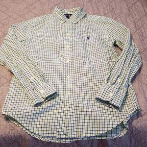 Ralph Lauren Boys button down long sleeve 10/12